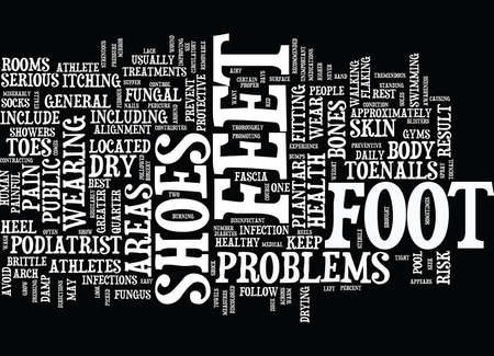 ATHLETES AT GREATER RISK FOR FOOT PROBLEMS Text Background Word Cloud Concept Illustration