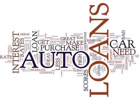 shocks: AUTO LOANS ARE GREAT IDEAS Text Background Word Cloud Concept