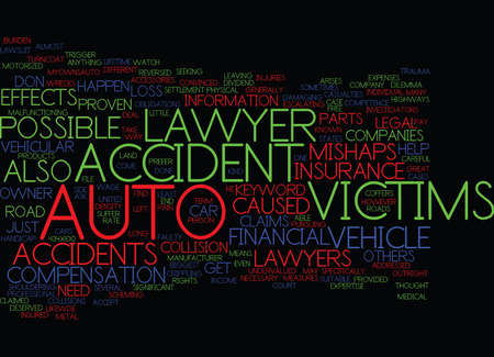 AUTO ACCIDENT LAWYER Text Background Word Cloud Concept