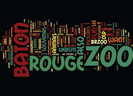 BATON ROUGE Text Background Word Cloud Concept