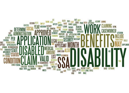 ARE YOU ENTITLED TO CLAIM DISABILITY BENEFITS Text Background Word Cloud Concept