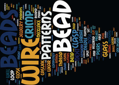 BEAD SHOP Text Background Word Cloud Concept