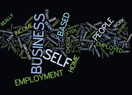 ve: ARE YOUR SUITABLE FOR A HOME BASED BUSINESS Text Background Word Cloud Concept