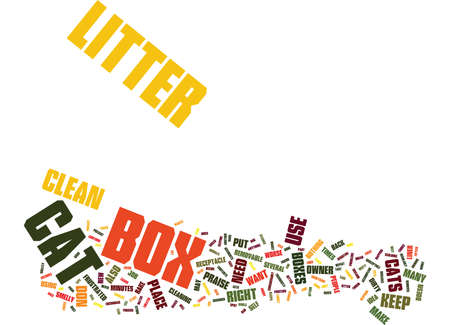 AT LAST CAT LITTER BOXES DON T HAVE TO BE EVIL Text Background Word Cloud Concept Illustration