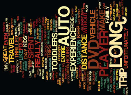 AUTO DVD PLAYER Text Background Word Cloud Concept Çizim