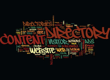 ARTICLE DIRECTORY WEBSITE DESIGN CLEAN UP YOUR CONTENT Text Background Word Cloud Concept