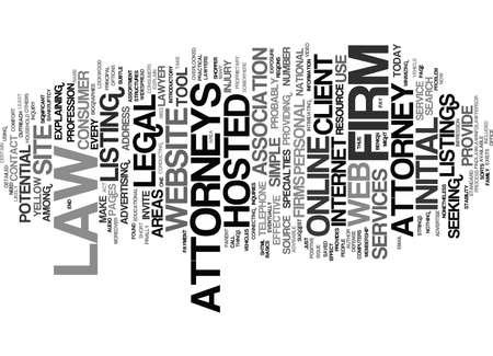 ATTORNEYS ONLINE Text Background Word Cloud Concept 向量圖像