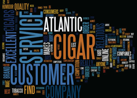 ATLANTIC CIGAR Text Background Word Cloud Concept
