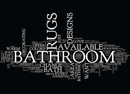 BATHROOM SHELVES Text Background Word Cloud Concept