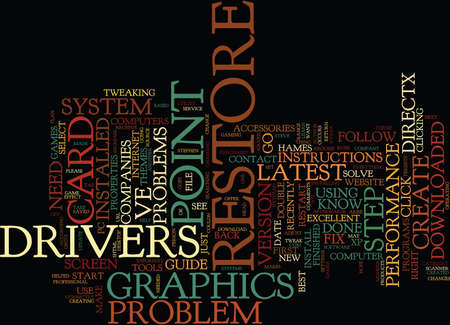 ARE YOU A PC GAMER AND WANT THE BEST OUT OF YOUR GRAPHICS CARD Text Background Word Cloud Concept