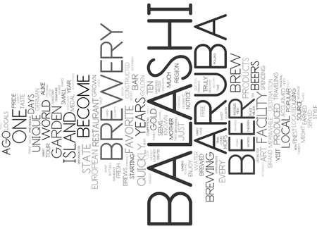 ARUBA S GOLDEN BREW 텍스트 배경 단어 구름 개념