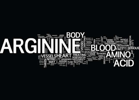 ARGININE Text Background Word Cloud Concept