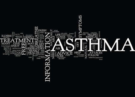 ASTHMA TREATMENT Text Background Word Cloud Concept