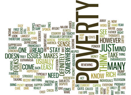ARTICLE ON POVERTY Text Background Word Cloud Concept