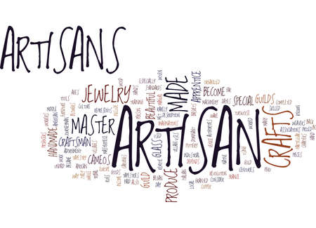ARTISAN CRAFTS ARE SPECIAL Text Background Word Cloud Concept 矢量图片