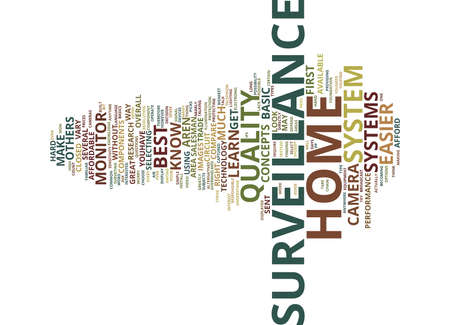BASIC KNOWLEDGE ABOUT HOME SURVEILLANCE Text Background Word Cloud Concept
