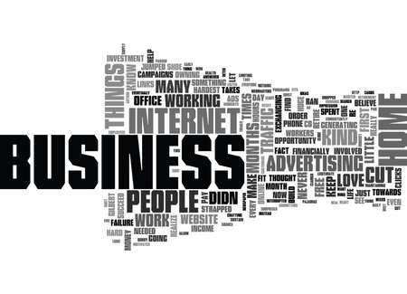ARE YOU CUT OUT TO OWN A HOME BUSINESS Text Background Word Cloud Concept Иллюстрация