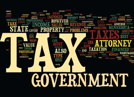doomed: ATTORNEY MINNESOTA TAX Text Background Word Cloud Concept
