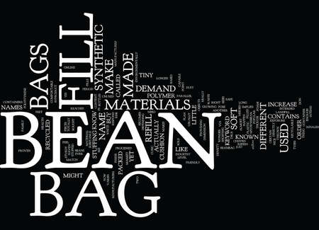 BEAN BAG FURNITURE Text Background Word Cloud Concept