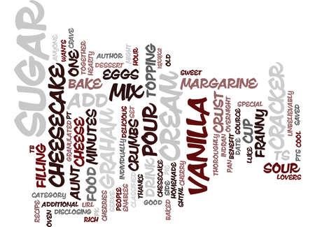 叔母フラニー S 特別なチーズケーキ テキスト背景単語雲概念