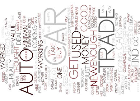 knew: AUTO TRADE Text Background Word Cloud Concept Illustration