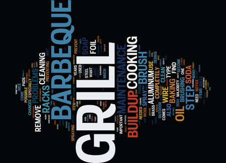 BARBEQUE PIT SMOKER Text Background Word Cloud Concept