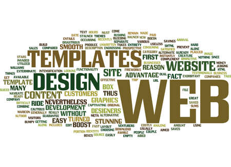 ARE WEB TEMPLATES AIMED TO EXTERMINATE THE WEB STARS Text Background Word Cloud Concept