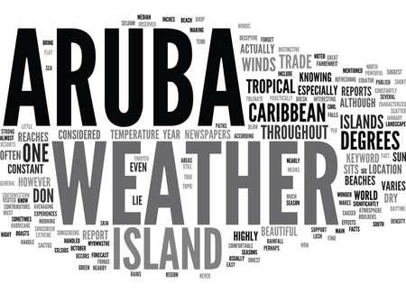 ARUBA WEER Tekst Achtergrond Word Cloud Concept