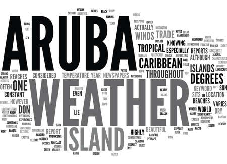 ARUBA WEATHER Text Background Word Cloud Concept Illustration