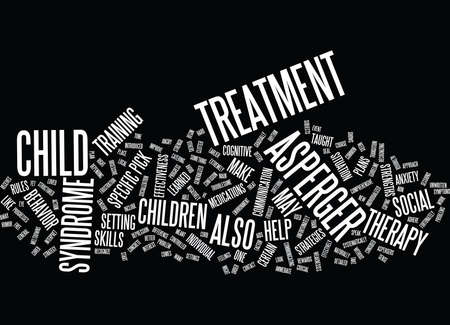 ASPERGERS TREATMENT Text Background Word Cloud Concept