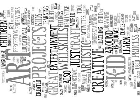 ART FOR KID Text Background Word Cloud Concept Çizim