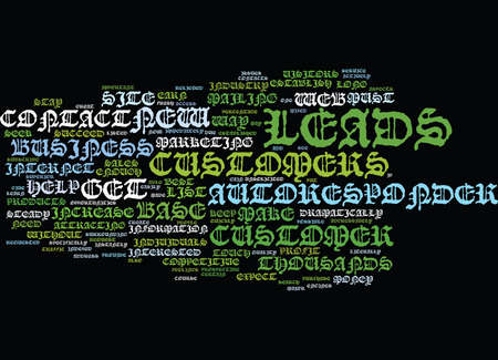 AUTORESPONDER LEADS CREATE A CUSTOMER BASE QUICKLY Text Background Word Cloud Concept Illustration