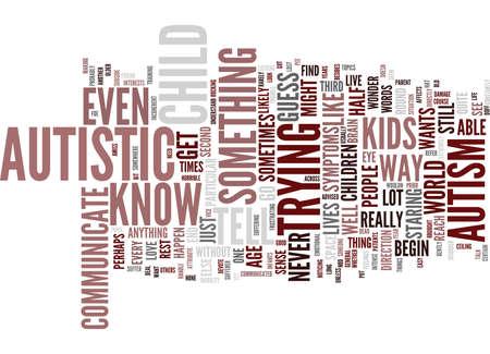 AUTISM Text Background Word Cloud Concept Ilustração