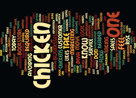 ARE YOU A CHICKEN Text Background Word Cloud Concept Иллюстрация