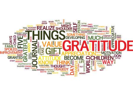 態度と感謝のテキスト背景単語雲概念