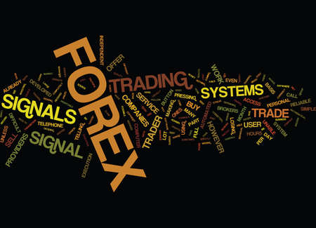 AUTOMATED WEALTH FOREX SIGNALS Text Background Word Cloud Concept