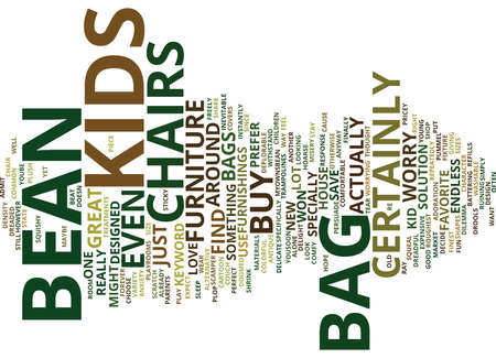 BEAN BAG CHAIRS Text Background Word Cloud Concept