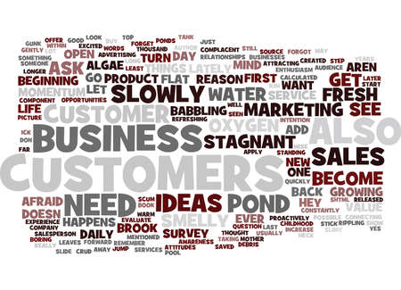 ARE YOUR SALES STAGNANT AND SMELLY Text Background Word Cloud Concept