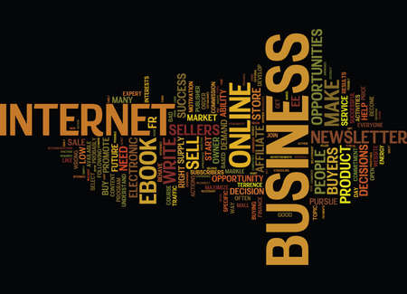 ARE YOU IN THE RIGHT ONLINE BUSINESS Text Background Word Cloud Concept