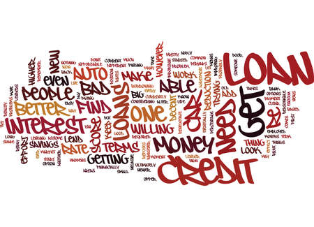 AUTO LOANS FOR PEOPLE WITH BAD CREDIT Text Background Word Cloud Concept