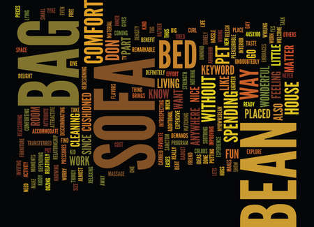 BEAN BAG SOFAS Text Background Word Cloud Concept