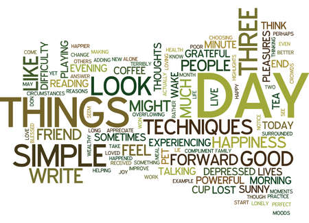 BE HAPPY AND GIVE US A SMILE Text Background Word Cloud Concept Ilustração