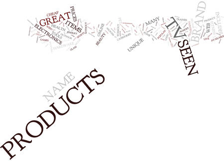AS SEEN ON TV NAME BRAND PRODUCTS YOU CAN T LIVE WITHOUT Text Background Word Cloud Concept