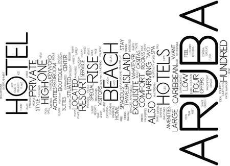 ARUBA HOTEL Text Background Word Cloud Concept