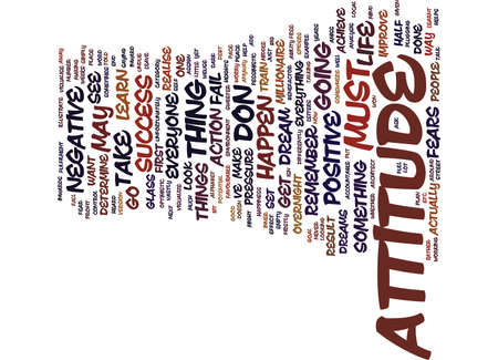 ATTITUDE Text Background Word Cloud Concept Illustration