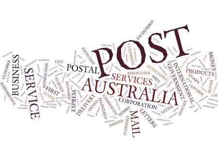 AUSTRALIA POST Text Background Word Cloud Concept Ilustração