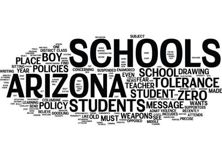 ARIZONA SCHOOLS DID THEY OVERREACT Text Background Word Cloud Concept Ilustrace