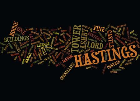 ASHBY CASTLE Text Background Word Cloud Concept