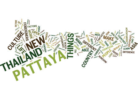ARE YOU READY TO RETIRE IN PATTAYA Text Background Word Cloud Concept Ilustração