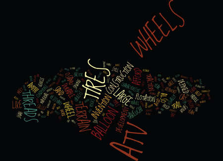 ATV WHEELS Text Background Word Cloud Concept Illustration